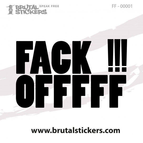 Crazy Sticker FF-00001