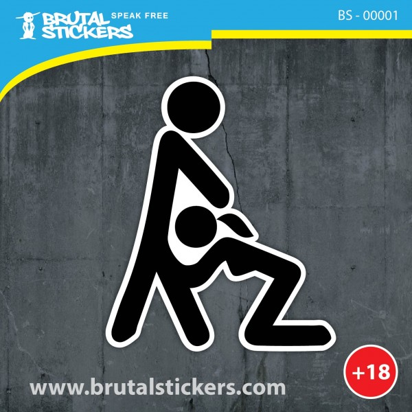 Crazy sticker BS - 00001