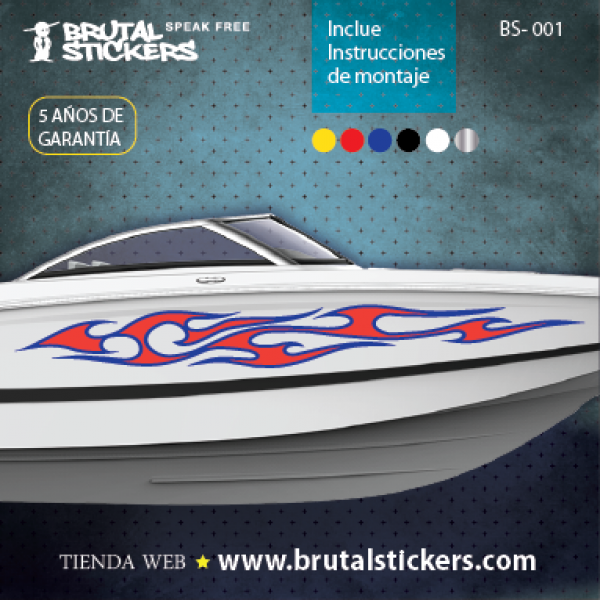 Boat stickers  BS-001