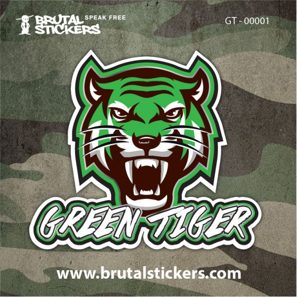 Hunt Sticker Green Tiger GT-00001