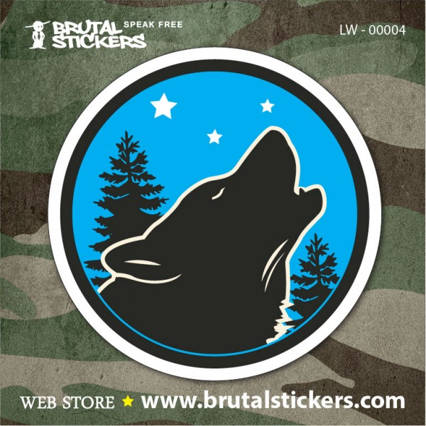 Hunt Sticker Wolf LW-00004