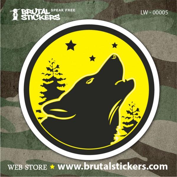 Hunt Sticker Wolf LW-00004