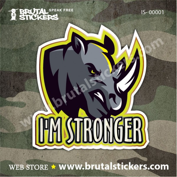 Hunting Sticker Rhinoceros IS-00001