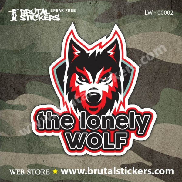 Hunt Sticker Lonely Wolf LW-00001