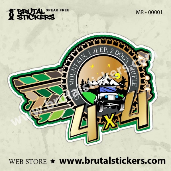 Sticker  4x4 MR - 00001