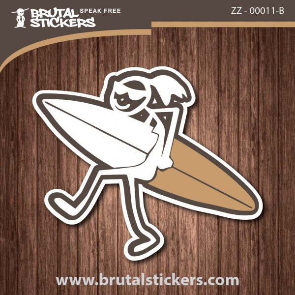 Surf Girl Sticker ZZ - 00011