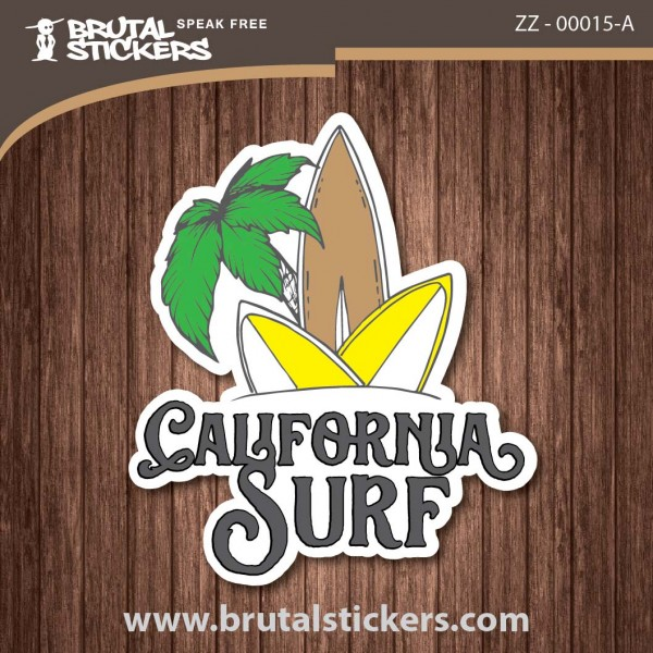 Surf California Sticker  ZZ - 00015