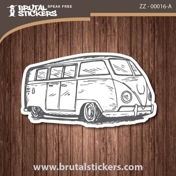 Surf Caravana Sticker ZZ - 00016