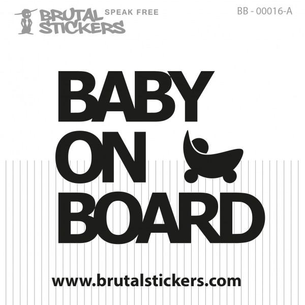 Sticker Baby on Board BB-00016