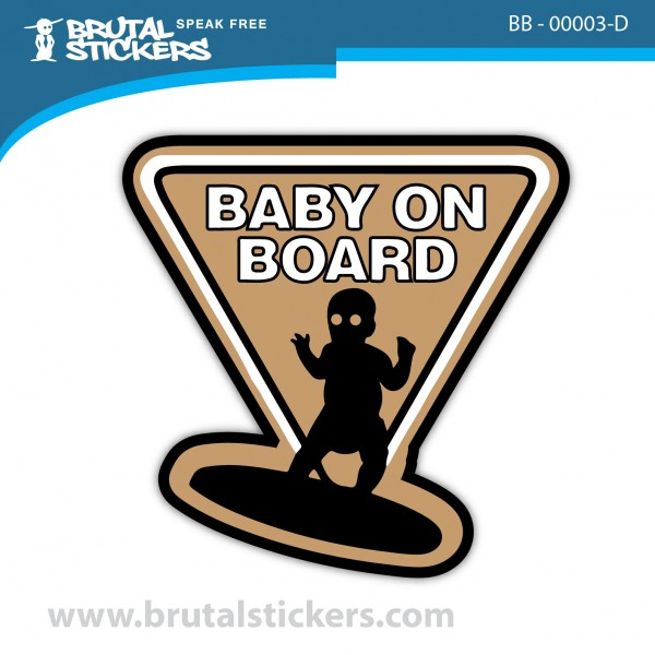Sticker Baby on Board BB-00003