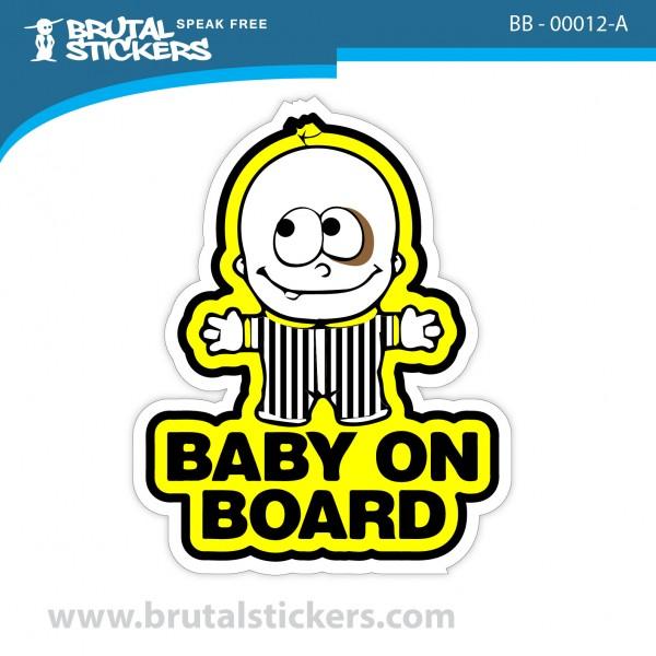 Sticker Baby on Board BB-00012