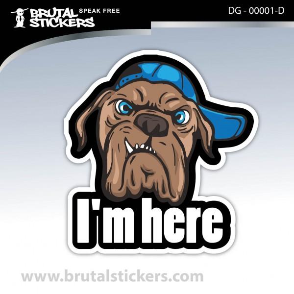 Sticker Dog in board DG - 00001