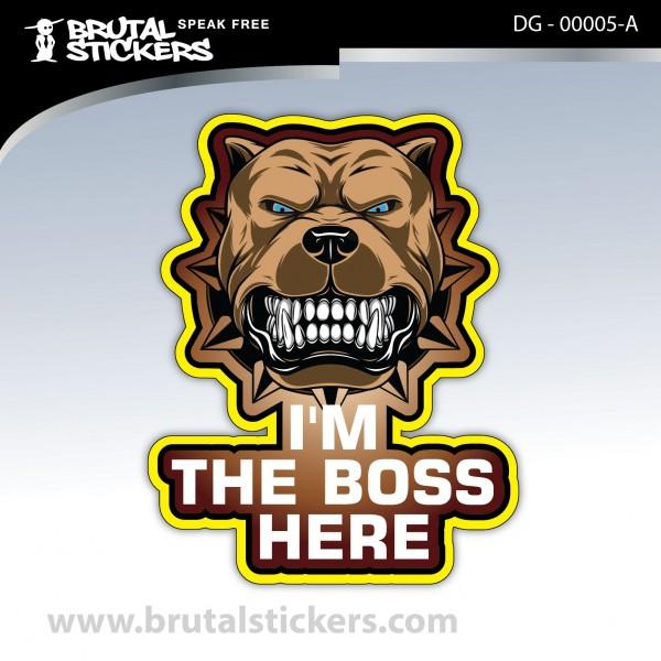 Custom Stickers Dog on board DG - 00005