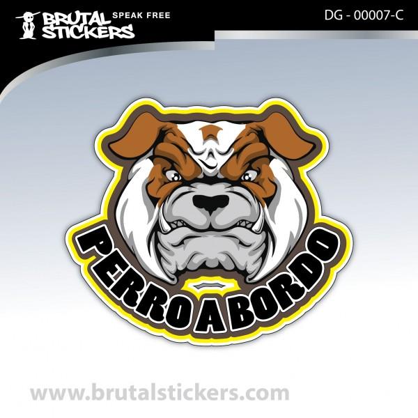 Sticker Dog in board DG - 00007