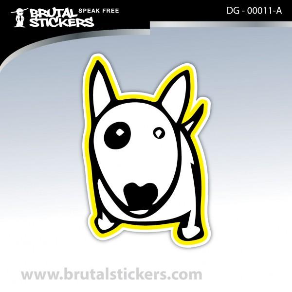 Custom Stcker Dog on board DG - 00011